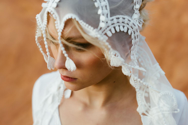 Collection 2018 : Robe de mariée  voile en coton