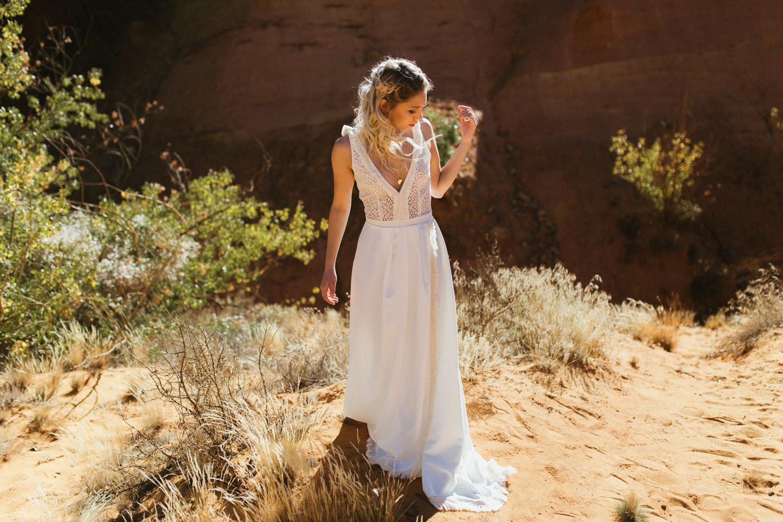 Collection 2018 : Robe de mariée bohème folk