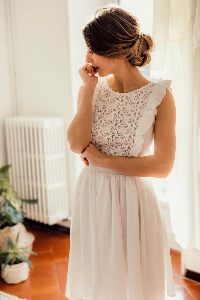 Collection civile : Robe de mariée au look cool et trendy