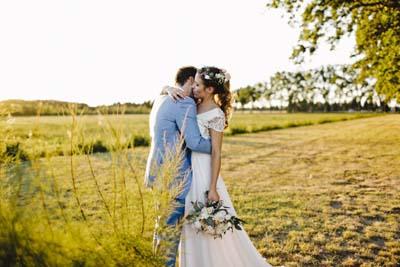 Robe de mariée bohème