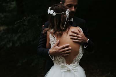 Robe de mariée dos nu dentelles