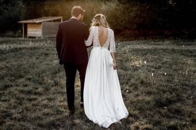 Robe de mariée dos nu en dentelles