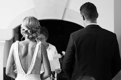 Robe de mariée dos nu sensuelle