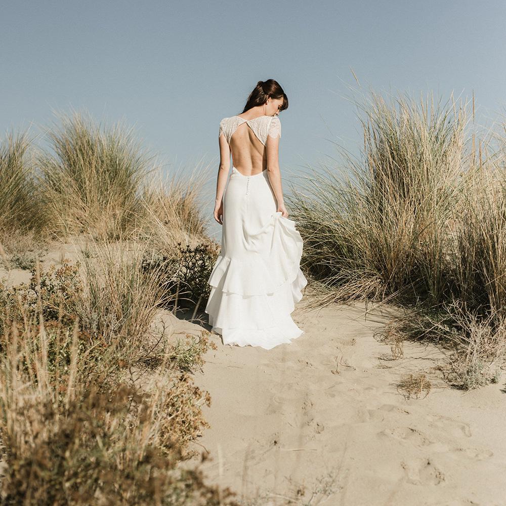 Collection 2019 : Robe de mariée coupe épurée