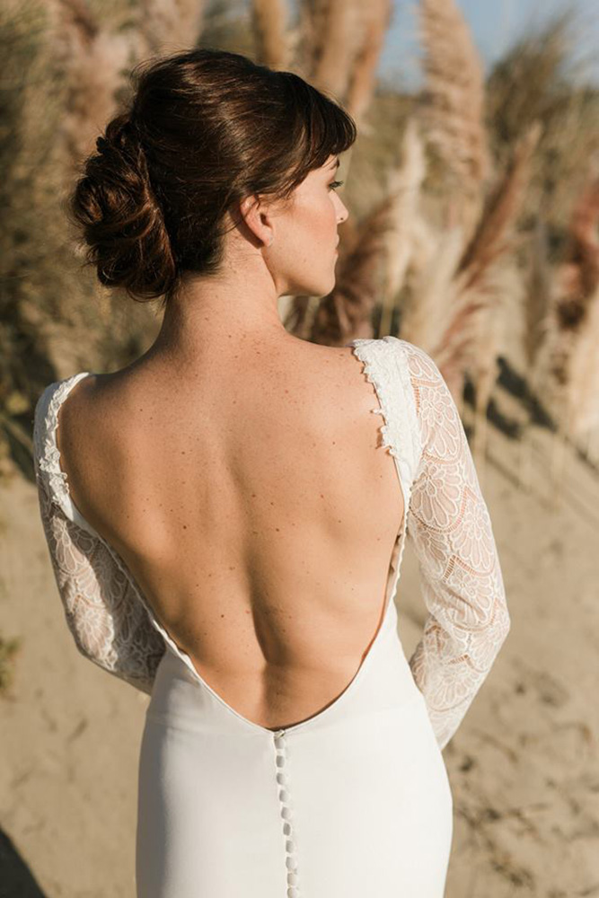 Collection 2019 : Robe de mariée avec grand dos nu