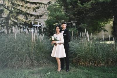 Robe de mariée courte et trendy
